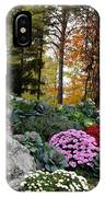 Chrysanthemums In The Garden IPhone Case