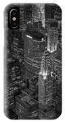 Chrysler Building Aerial View Bw IPhone Case