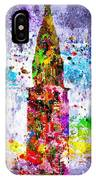 Chrysler Building Colored Grunge IPhone Case