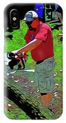 Chuck Chainsaw IPhone Case