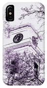 Church Clock In Autumn IPhone Case