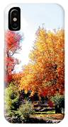 Church In The Distance In Autumn IPhone Case