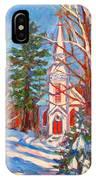 Church Snow Scene IPhone Case