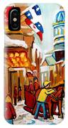 Church Street In Winter IPhone Case