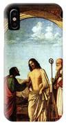 Cima Da Conegliano The Incredulity Of St Thomas With St Magno Vescovo IPhone Case