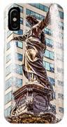 Cincinnati Fountain Genius Of Water By Tyler Davidson  IPhone Case