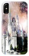 Cinderella's Castle, Fantasy Night Sky, Walt Disney World IPhone Case