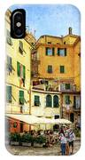 Cinque Terre - Vernazza Main Street - Vintage Version IPhone Case