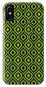 Circle And Oval Ikat In Black N09-p0100 IPhone Case