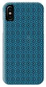 Circle And Oval Ikat In Black N18-p0100 IPhone Case