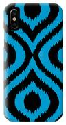 Circle And Oval Ikat In Black T02-p0100 IPhone Case