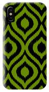 Circle And Oval Ikat In Black T03-p0100 IPhone Case