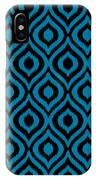 Circle And Oval Ikat In Black T05-p0100 IPhone Case
