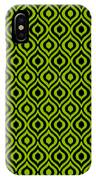 Circle And Oval Ikat In Black T09-p0100 IPhone Case