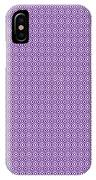 Circle And Oval Ikat In White N30-p0100 IPhone Case