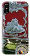 Circus Car In Red And Silver IPhone Case