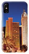 City - Vegas - Ny - The New York Hotel IPhone Case