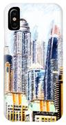 City Abstract IPhone Case by Chris Armytage