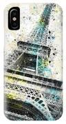 City-art Paris Eiffel Tower Iv IPhone Case