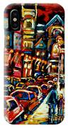 City At Night Downtown Montreal IPhone Case