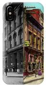 City - Knoxville Tn - Gay Street 1903 - Side By Side IPhone Case