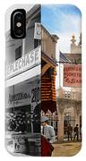 City - Ny - The Great Steeplechase 1903 - Side By Side IPhone Case