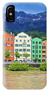 City Of Innsbruck Colorful Inn River Waterfront Panorama IPhone Case