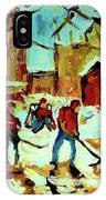 City Of Montreal Hockey Our National Pastime IPhone Case