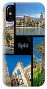 City Of Split Nature And Architecture Collage IPhone Case