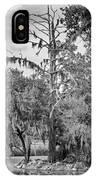 City Park Lagoon - Bw IPhone Case