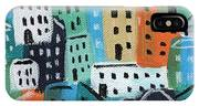 City Stories- Blue And Orange IPhone Case
