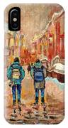 Cityscape In Winter IPhone Case
