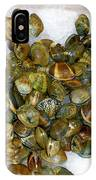 Clams In The Fish Market IPhone Case
