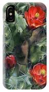Claret Up Cactus IPhone Case