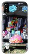 Classic Car Day Of Dead Decor Trunk IPhone Case