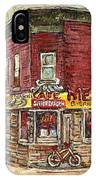 Classic Chinese Restaurant Montreal Memories Silver Dragon Canadian Paintings Carole Spandau         IPhone Case