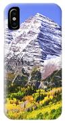 Classic Maroon Bells IPhone Case