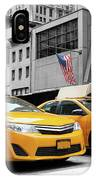 Classic Street View Of Yellow Cabs In New York City IPhone Case