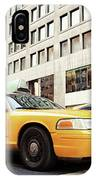 Classic Street View With Yellow Cabs In New York City IPhone Case