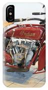 Classic Vintage Indian Motorcycle Red   # IPhone Case