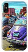 Classic Volkswagen Beetle - Old Vw Bug IPhone Case