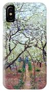 Claude Monet Orchard In Bloom IPhone Case