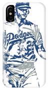 Clayton Kershaw Los Angeles Dodgers Pixel Art 10 IPhone Case