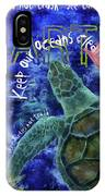 Clean Oceans Sea Turtle Art IPhone X Case