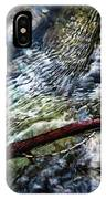 Clear Water Level With Twigs IPhone Case