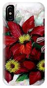 Clematis Niobe IPhone Case