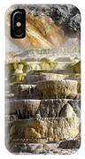 Cleopatra Terrace In Yellowstone National Park IPhone Case