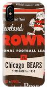Cleveland Browns Vintage Program 5 IPhone Case
