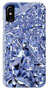 Cleveland Map Blue IPhone Case
