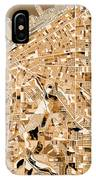 Cleveland Map Sepia IPhone Case